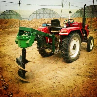 淮南四輪拖拉機立桿挖坑機  果樹種植大面積土地挖坑機