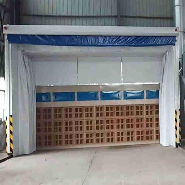 重型工件廢氣處理設備 伸縮移動噴漆房整套流程方案